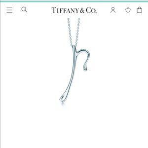 """Tiffany and Co. Elsa Peretti """"P"""" Necklace"""